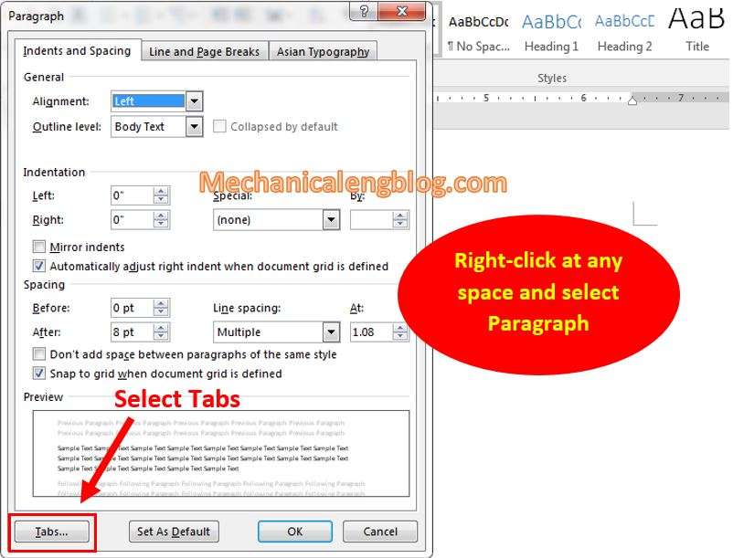 review tab in ms word 1