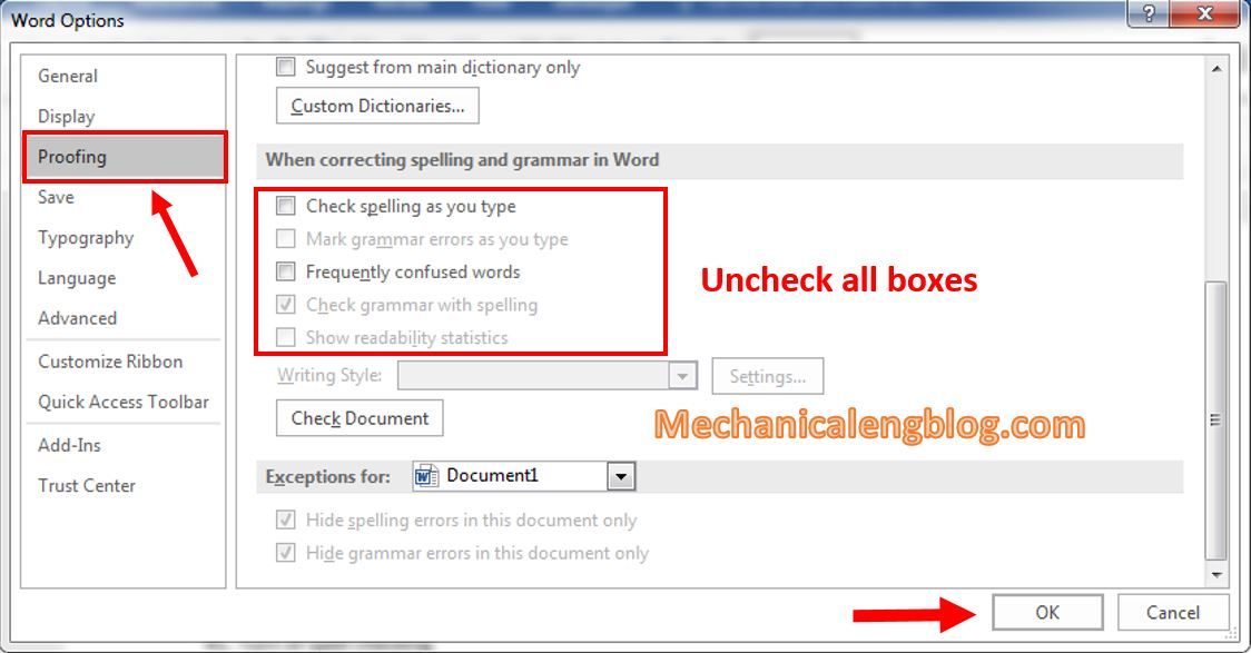 settings for Microsoft Word after installed 1