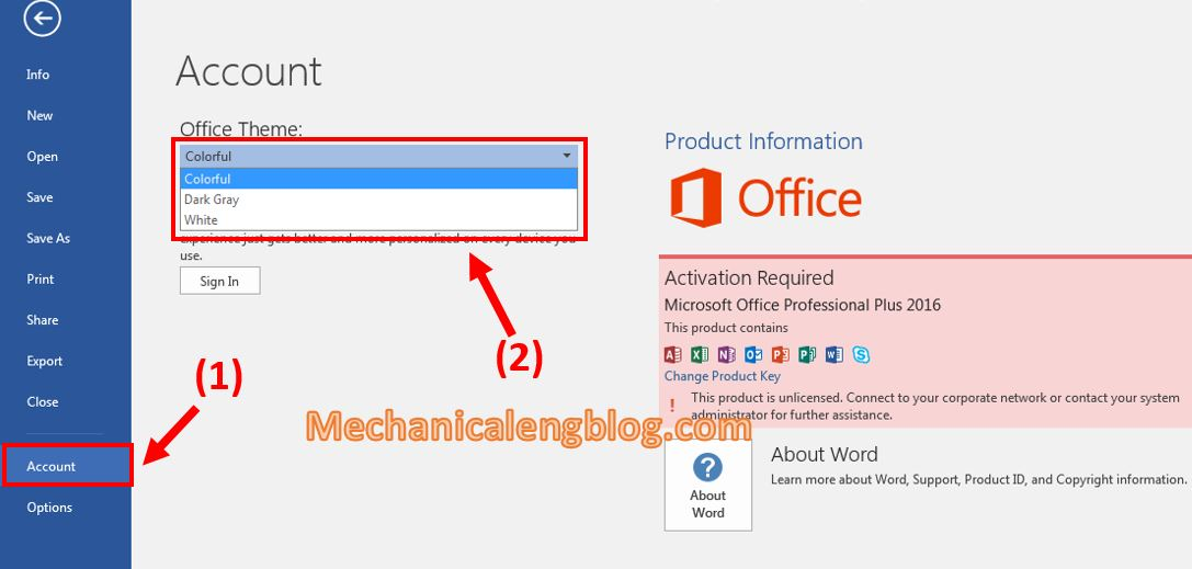 settings for Microsoft Word after installed 5