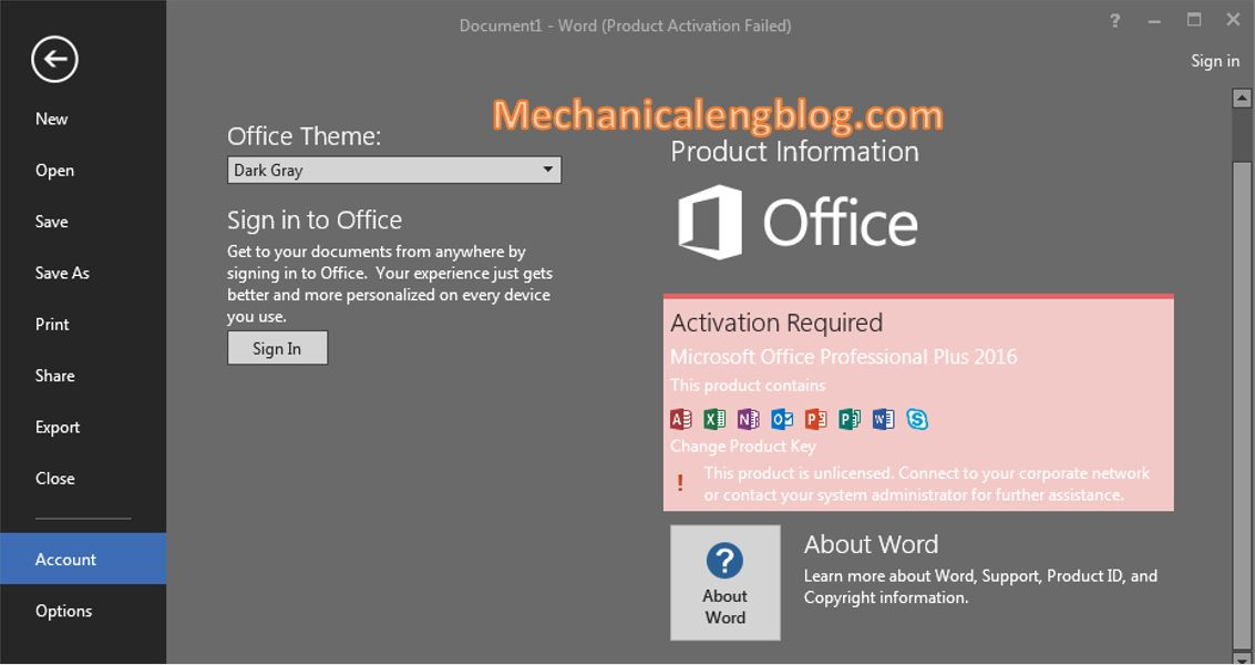 settings for Microsoft Word after installed 6