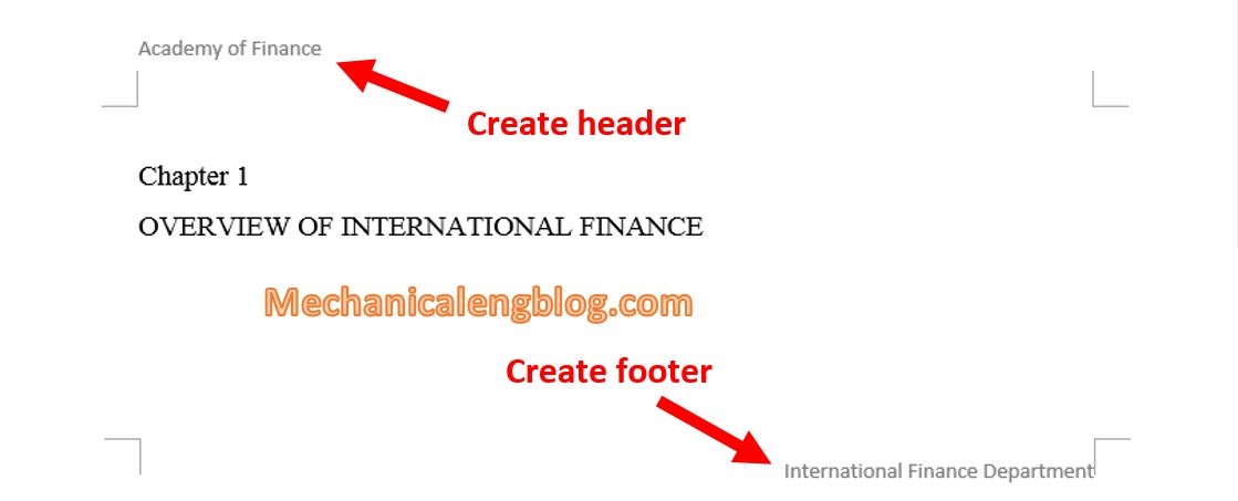 Create Header and Footer