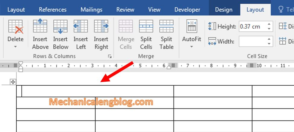 Create table in ms word _ How to merge cells in word 2