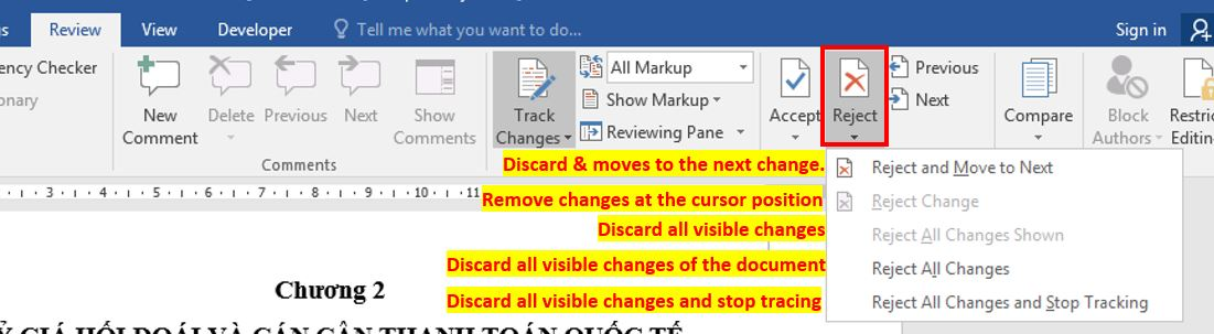 Handling changes to the document 3