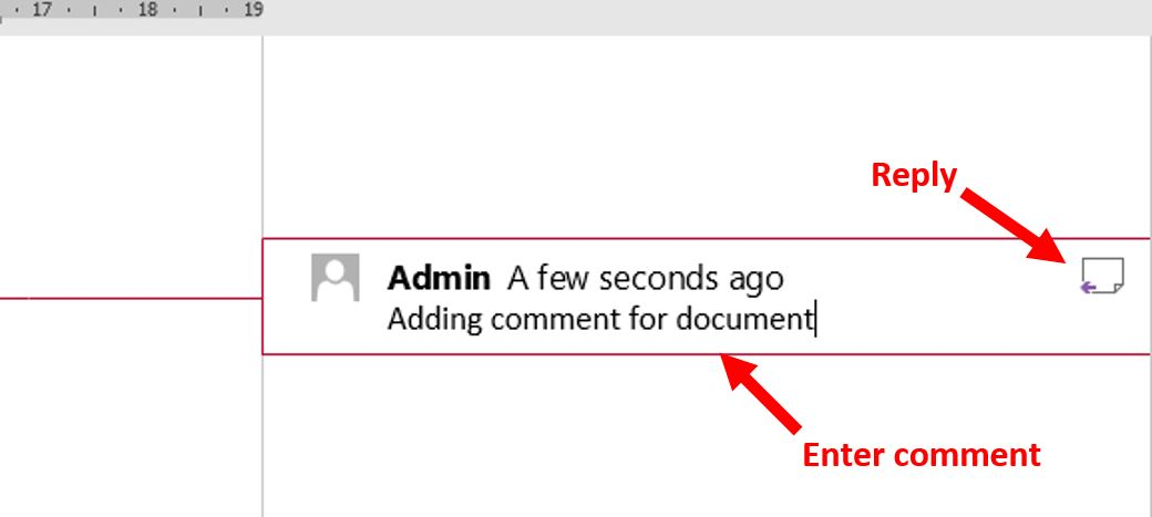 How to add comment in Word 2