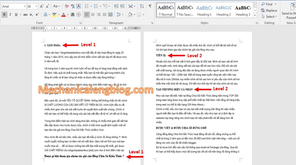 How to create a table of contents in Word