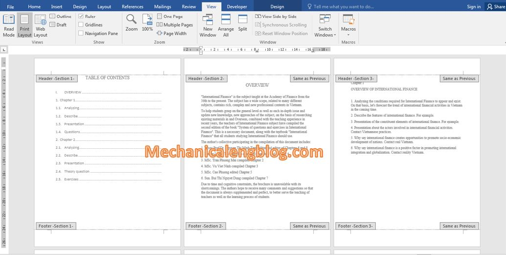 How to delete section break in word 1