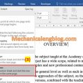 How to insert section break in word 1