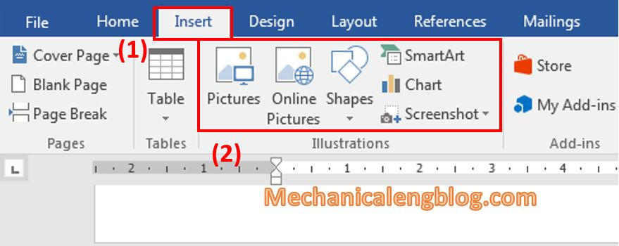 Inserting pictures in word