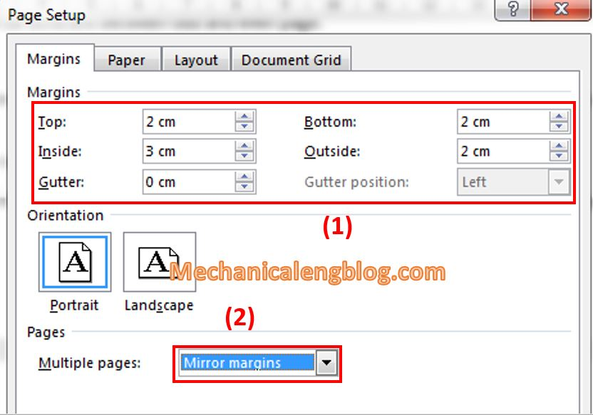 Paper size and margin alignment 3
