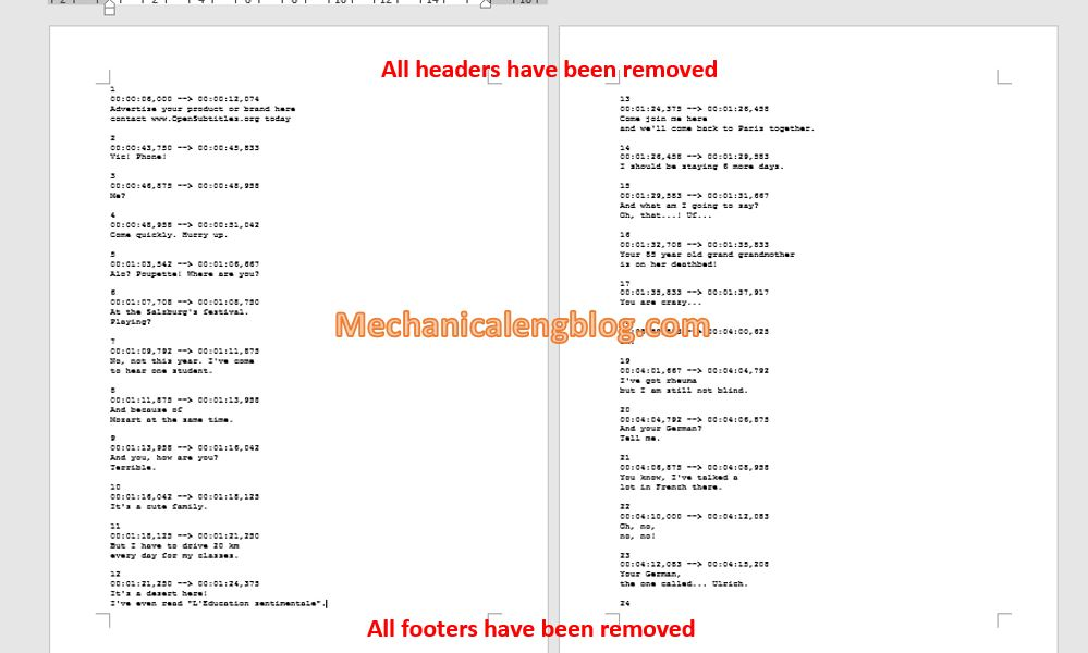 Remove header and footer in word quickly 4