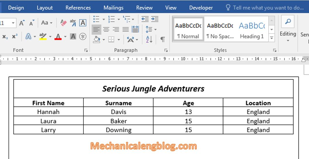 Rotate table in word by using text box 3