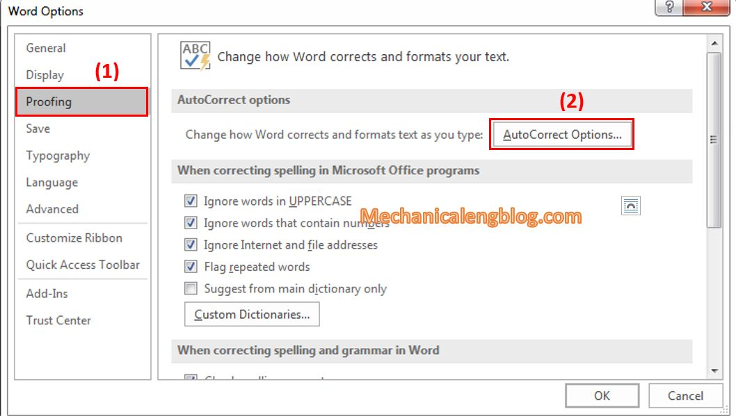 create acronym in Word 1