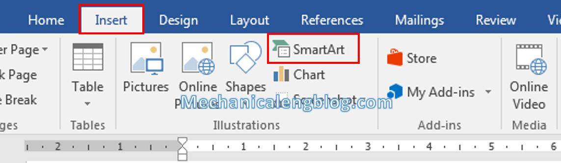 How to insert smartart in Word 1