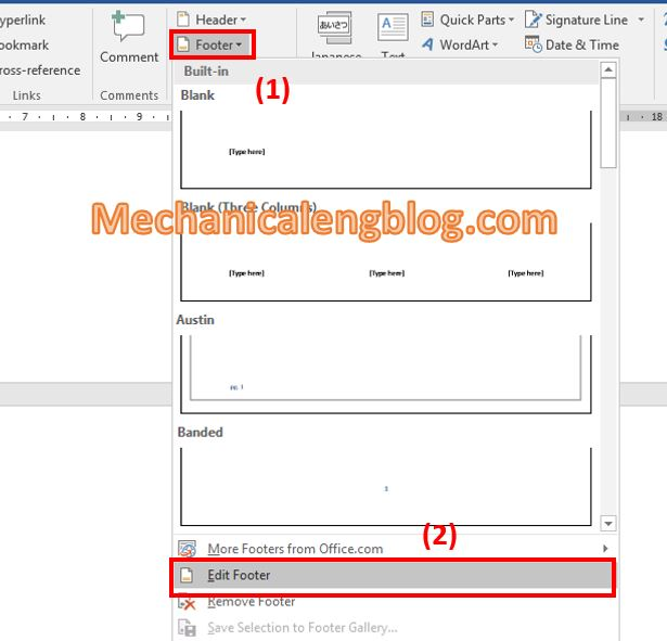 How to remove page number from first page 1