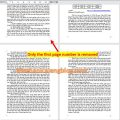 How to remove page number from first page 3