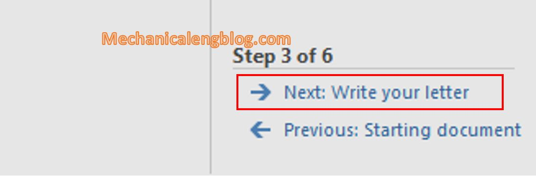 How to use mail merge in ms Word 8