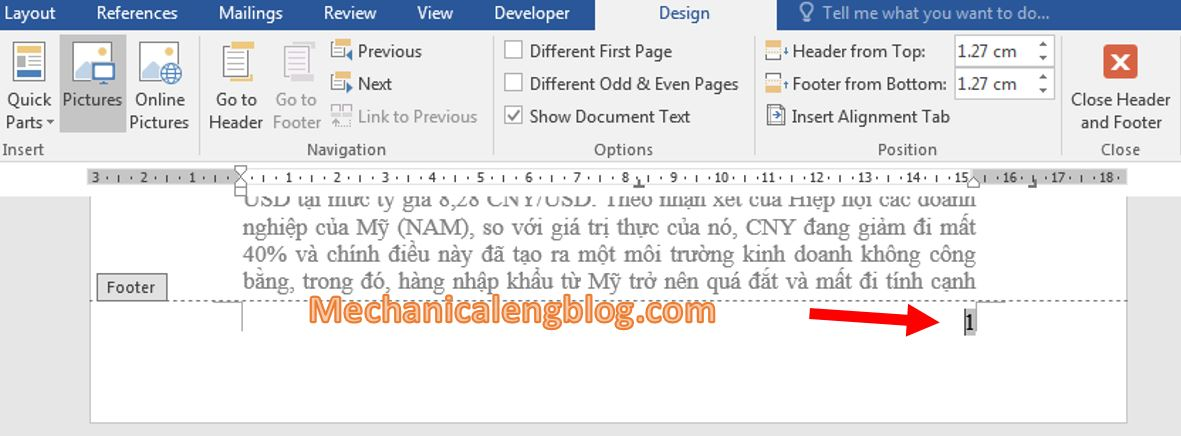 Remove page numbers in word 1
