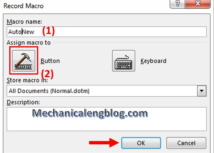 create Marco in ms word 4