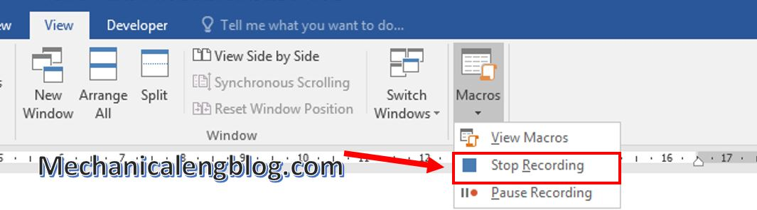 create Marco in ms word 7