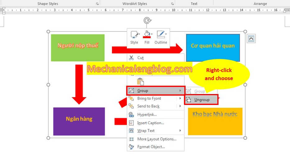 group objects in word 3