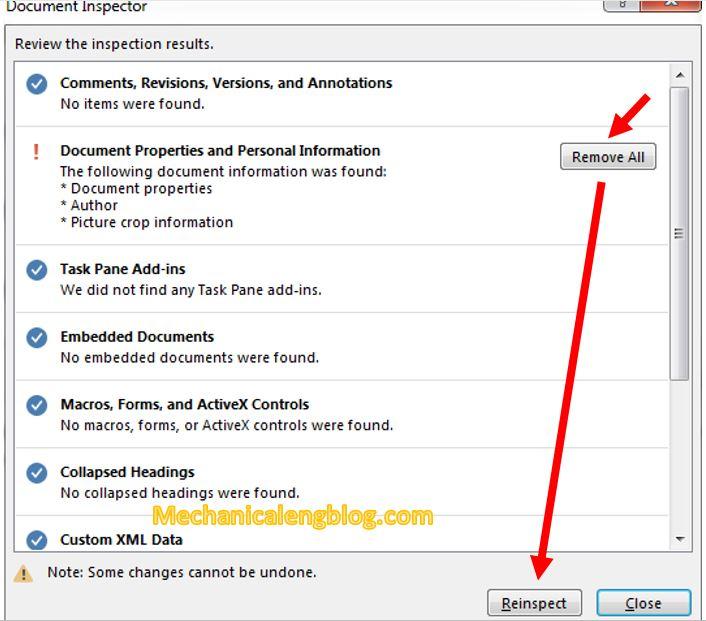 hide personal information in Word 3