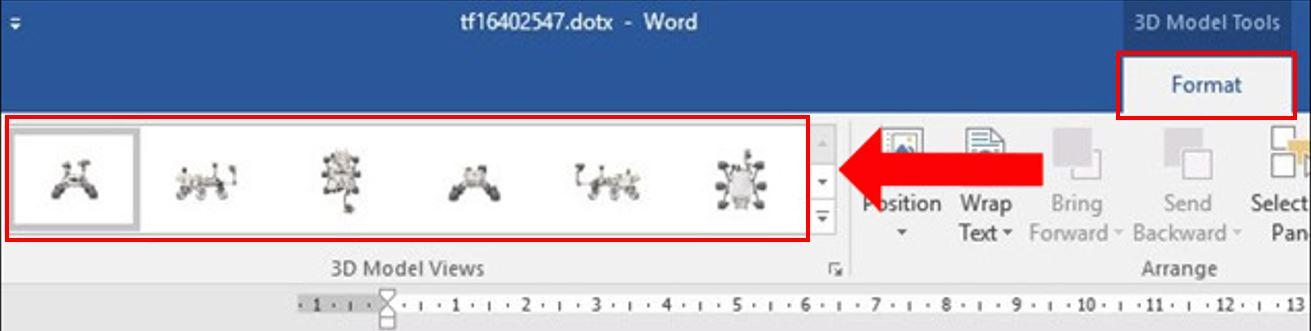 insert 3d model in Word 4