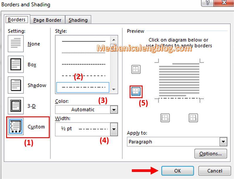 insert horizontal lines in Word 3
