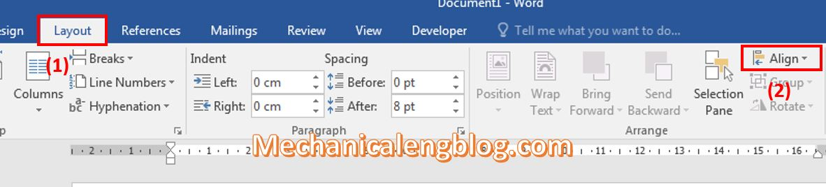 remove gridlines in Word 1