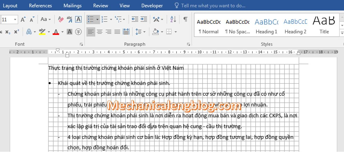 remove gridlines in Word 3