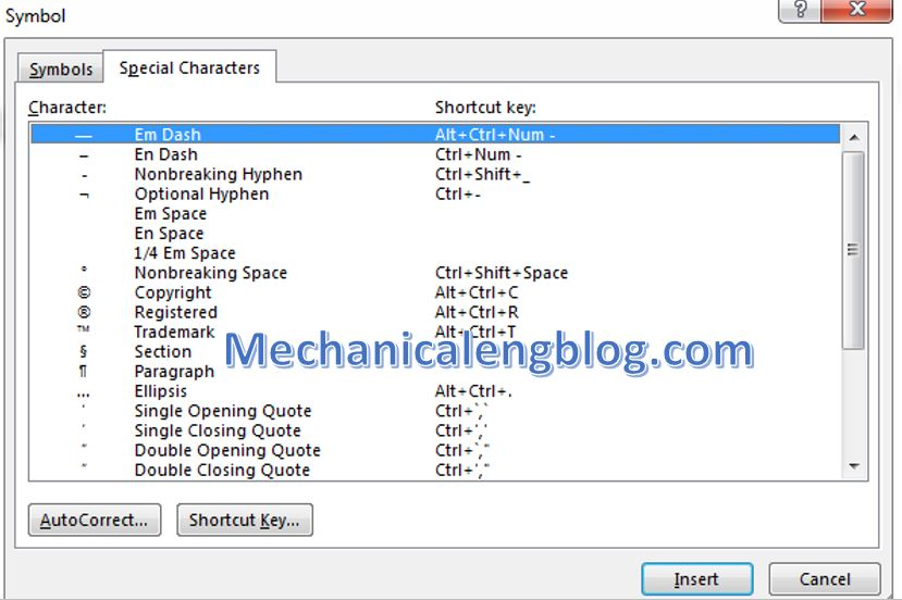 special characters in word. 4
