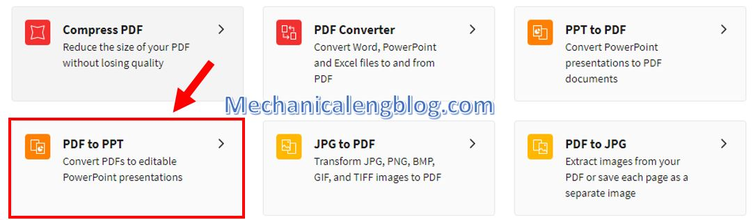 Convert PDF to PowerPoint 1