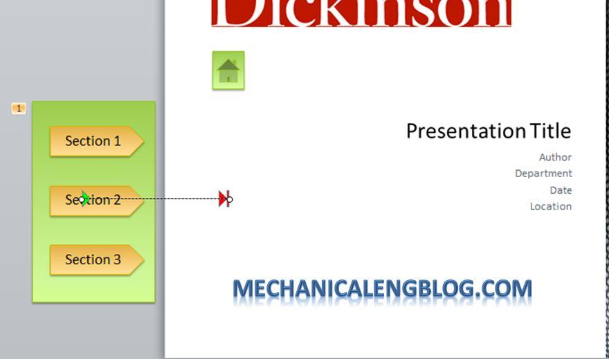 Create a menu in PowerPoint by Hyperlink 11