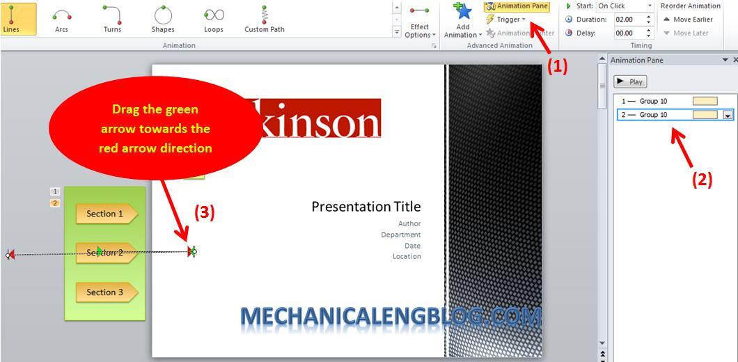 Create a menu in PowerPoint by Hyperlink 13