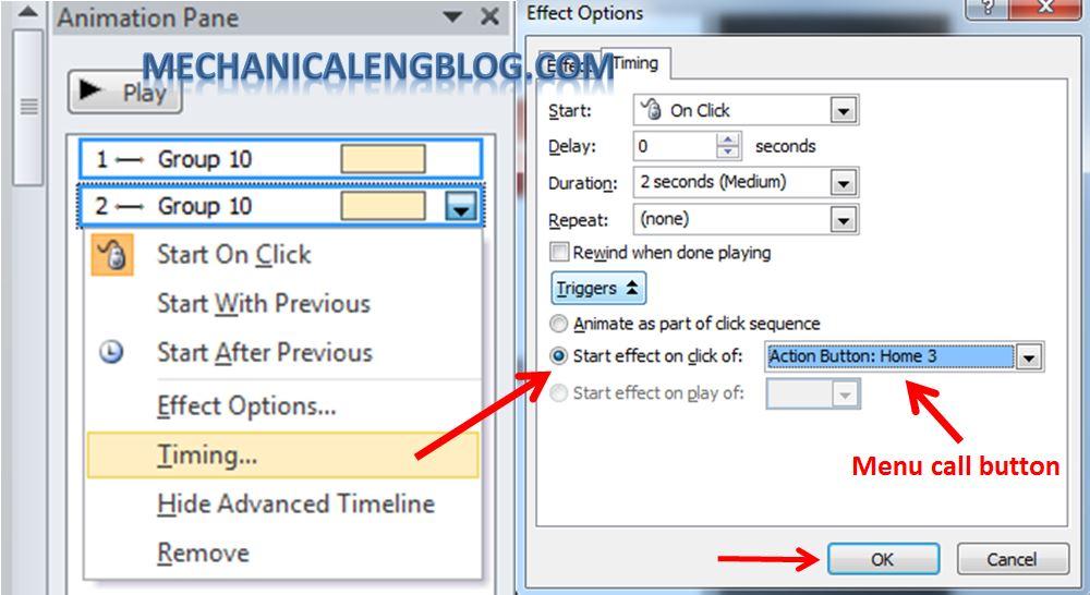 Create a menu in PowerPoint by Hyperlink 15