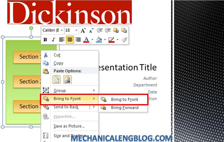 Create a menu in PowerPoint by Hyperlink 17