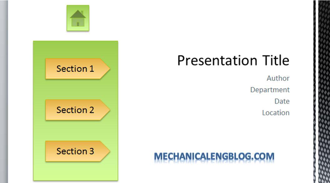 Create a menu in PowerPoint by Hyperlink 2