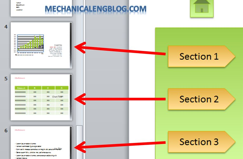 Create a menu in PowerPoint by Hyperlink 3