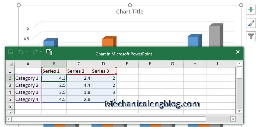 How to insert chart in PowerPoint 3