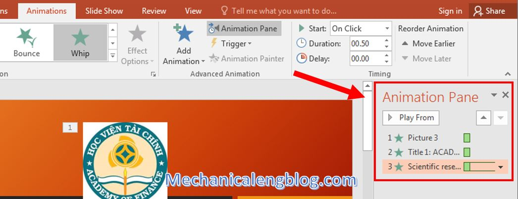 Powerpoint presentation format Add animations 2