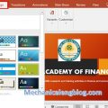 Powerpoint presentation format_Add a Theme for slide 1