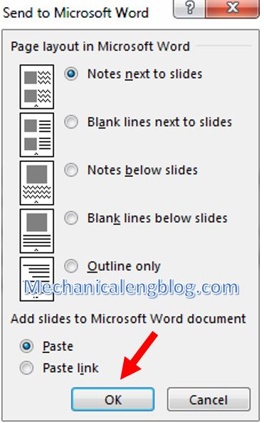 convert powerpoint to word 2