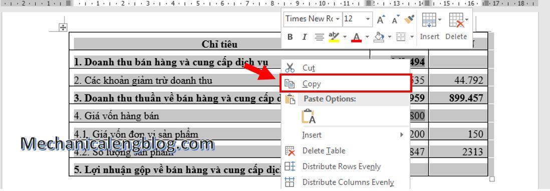 copy table from word to ppt 1