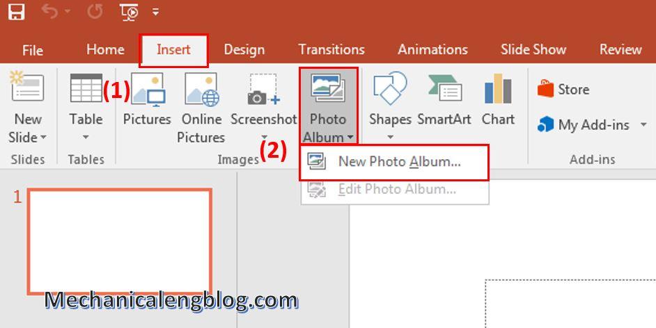 create a photo album in PowerPoint 1