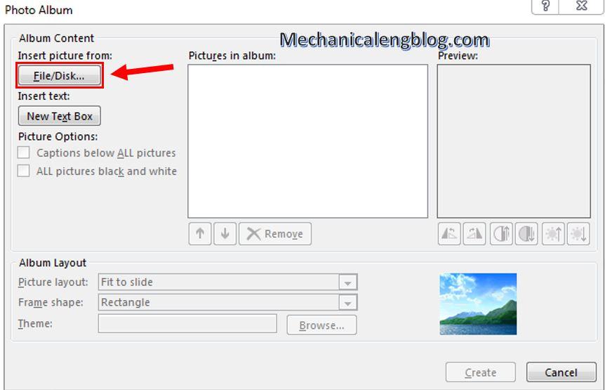 create a photo album in PowerPoint 2