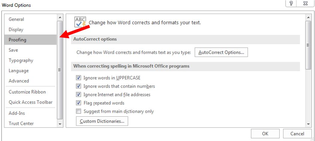 how to remove red underline in word 3