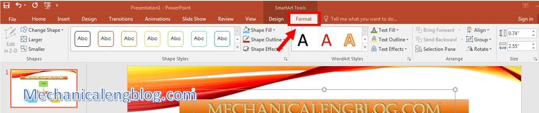 insert SmartArt in powerpoint 2
