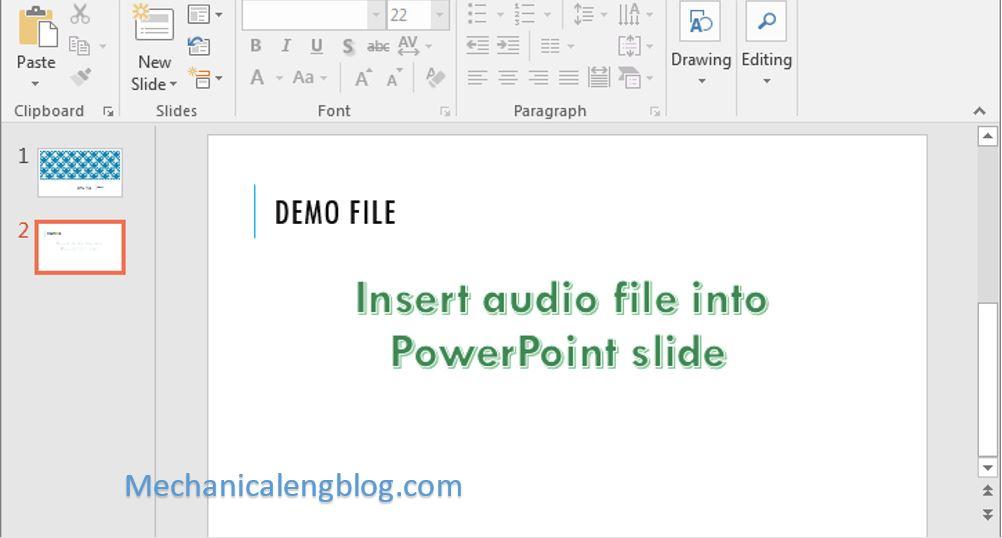 insert audio into powerpoint 1
