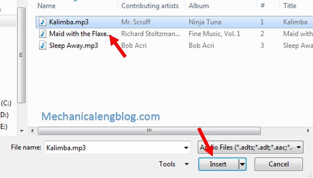 insert audio into powerpoint 3