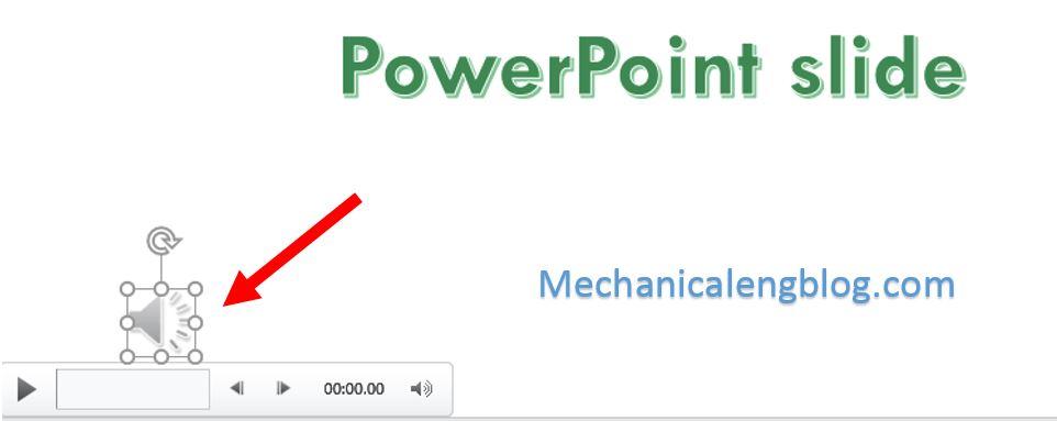 insert audio into powerpoint 4