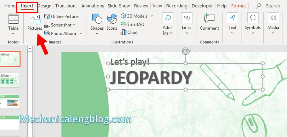 How to make a jeopardy game on Powerpoint 1